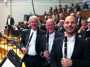 With the Ulster Orchestra: Paul Schumann, Andrew Roberts & Chicco Scola